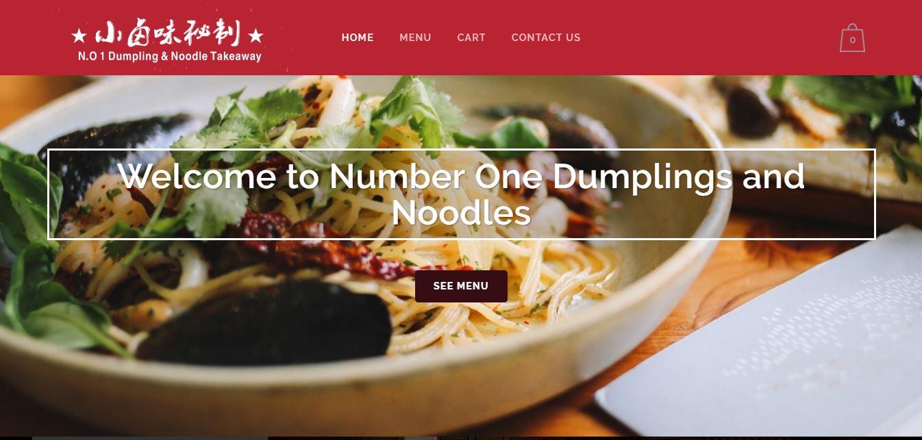 Number 1 Dumpling Menu