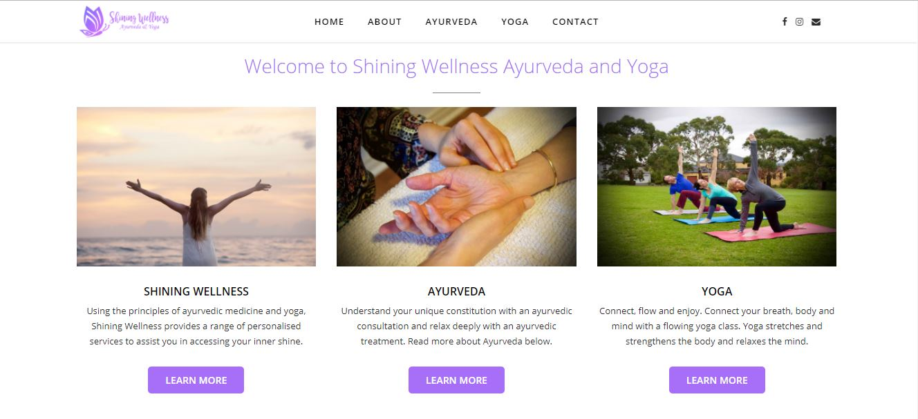 Shining Wellness Website Creation